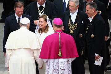 Grand Duchess Maria Teresa Of Luxembourg Pope John Paul II And Pope John XXIII Are Declared Saints During A Vatican Mass