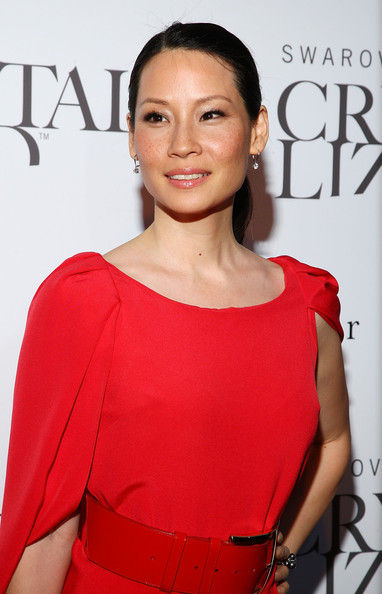 Actress Lucy Liu attends the Swarovski Crystallized Concept store grand opening at Swarovski Crystallized Concept Store on June 25, 2009 in New York City.