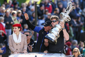 Grant Dalton Team New Zealand Americas Cup Wellington Welcome Home Parade