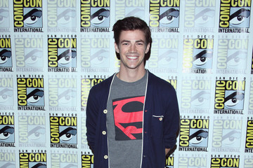 "Grant Gustin ""The Flash"" Press Line - Comic-Con International 2014"
