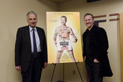 """Ralph Nader and Morgan Spurlock pose for a photo during a screening of """"The Greatest Movie Ever Sold"""" at E Street Cinema on March 24, 2011 in Washington, DC."""