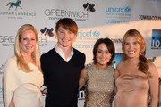 (L-R) Colleen deVeer, Calum Worthy, Wendy Stapleton Reyes and Carina Crain attend Greenwich Film Festival 2015 - Changemaker Honoree Gala at L'Escale Restaurant on June 6, 2015 in Greenwich, Connecticut.