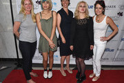 (L-R) Colleen deVeer, Nadya Tolokonnikova,  Zephyr Teachout; Maria Alyokhina and Wendy Stapleton Reyes attend Greenwich Film Festival 2015 - Changemaker Honoree Gala at L'Escale Restaurant on June 6, 2015 in Greenwich, Connecticut.