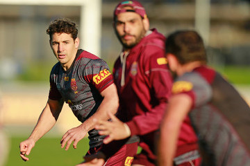 Greg Inglis Billy Slater Queensland Maroons Training Session