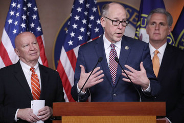 Greg Walden Kevin McCarthy, House GOP Hold News Conference On American Health Care Act