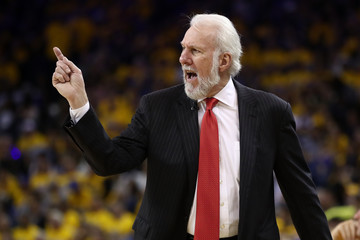 Gregg Popovich San Antonio Spurs v Golden State Warriors - Game Two