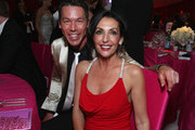 Tv personality David Bromstad (L) and Ghada Dergham attend Grey Goose at 21st Annual Elton John AIDS Foundation Academy Awards Viewing Party at Pacific Design Center on February 24, 2013 in West Hollywood, California.