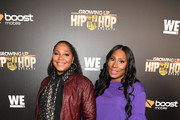"Trina Braxton and Towanda Braxton attend ""Growing Up Hip Hop Atlanta"" season 2 premiere party at Woodruff Arts Center on January 9, 2018 in Atlanta, Georgia."