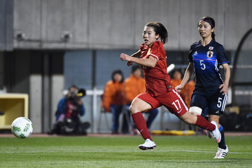 Gu Ya Sha Japan v China - AFC Women's Olympic Final Qualification Round