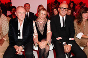 François-Henri Pinault, Sienna Miller and Marco Bizzarri attend the Gucci show during Milan Fashion Week Spring/Summer 2020 on September 22, 2019 in Milan, Italy.