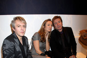 (L to R) Nick Rhodes, Lucy Yeomans and Simon Le Bon attend the Gucci Icon Temporary store opening on April 21, 2010 in London, England.