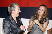 Nick Rhodes and Lucy Yeomans attend the Gucci Icon Temporary store opening on April 21, 2010 in London, England.