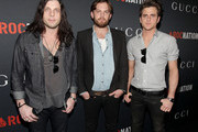 (L-R) Musicians Nathan Followill, Caleb Followill, and Jared Followill of the band Kings Of Leon arrive at the Gucci and RocNation Pre-GRAMMY brunch held at Soho House on February 12, 2011 in West Hollywood, California.