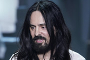 Fashion Designer Alessandro Michele acknowledges the appause of the audience during the Gucci Fall/Winter 2020/21 fashion show during Milan Fashion Week on February 19, 2020 in Milan, Italy.