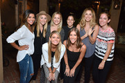 Lauren Paul, Co-Founder Kind Campaign (C), Molly Thompson, Co-Founder Kind Campaign (C), Arielle Vandenberg and guests attend the KEEP Collective Accessories Social To Benefit The Kind Campaign on August 25, 2015 in Los Angeles, California.
