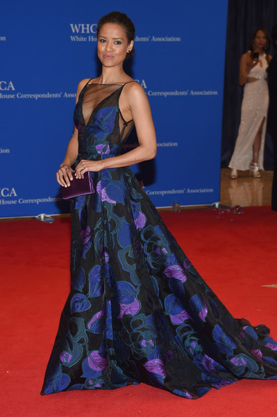 102nd White House Correspondents' Association Dinner - Arrivals [red carpet,carpet,clothing,dress,gown,flooring,fashion,premiere,shoulder,hairstyle,arrivals,gugu mbatha-raw,washington dc,white house correspondents association dinner]