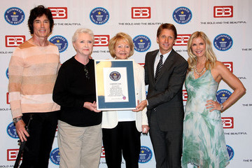 Ronn Moss Katherine Kelly Lang Guinness World Records Presents Bradley P. Bell With Official Validation