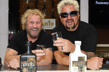 Guy Fieri Sammy Hagar + Guy Fieri Introduce Santo Fino Blanco Tequila And Announce Los Santos Partnership