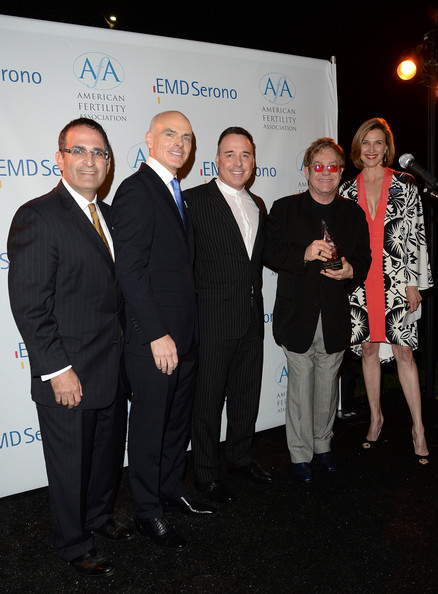 Elton John, David Furnish, The New Normal Honored At American Fertility Association's Illuminations LA 2013