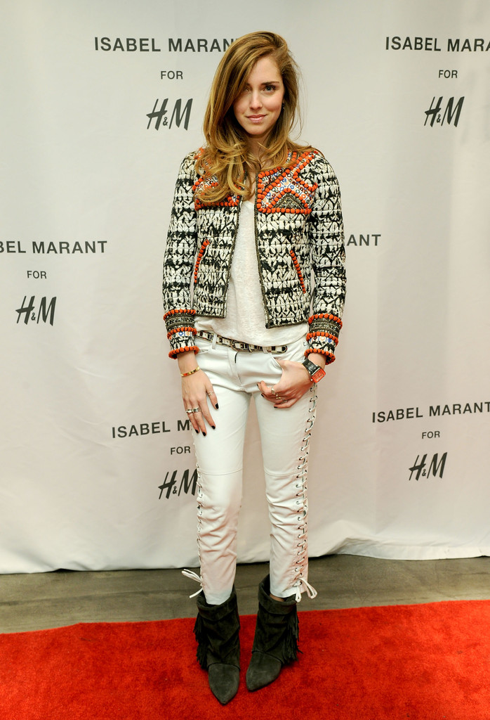 Chiara Ferragni attends H&M Isabel Marant VIP Pre-Shopping Event at H&M Fifth Avenue on November 12, 2013 in New York City.