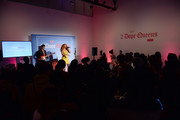 """(L-R) Lucas Goodman and Jillian Hervey of Lion Babe perform at HBO's """"2 Dope Queens"""" Dope Beauty Bar at Studio 525 on February 01, 2019 in New York City."""