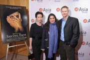"""(L-R) Asia Society Cultural Programs Assistant Director/Film Curator La Frances Hui, and filmmakers Sharmeen Obaid-Chinoy and Daniel Junge attend HBO's documentary screening of the Oscar winning film """"Saving Face"""" at Asia Society on March 5, 2012 in New York City."""