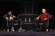 Lil Rel Howery (L) and Terrence J speak onstage during HBO's Lil Rel Comedy Special Screening, Panel and Reception at NeueHouse Hollywood on November 21, 2019 in Los Angeles, California.