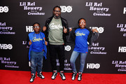 Lil Rel Howery (C) and family attend HBO's Lil Rel Comedy Special Screening, Panel and Reception at NeueHouse Hollywood on November 21, 2019 in Los Angeles, California.