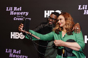 Lil Rel Howery (L) and Tina Knowles attend HBO's Lil Rel Comedy Special Screening, Panel and Reception at NeueHouse Hollywood on November 21, 2019 in Los Angeles, California.