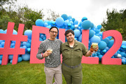 Darren Stein (L) and Harvey Guillen celebrate HBO's Big Little Lies Season 2 at Amabella's birthday party on June 01, 2019 in Los Angeles, California.