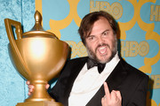 Jack Black makes his own trophy. - The Best After-Party Pics from the 2015 Golden Globes