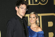 Christopher French and Ashley Tisdale attend HBO's Post Emmy Awards Reception at The Plaza at the Pacific Design Center on September 17, 2018 in Los Angeles, California.