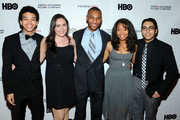 (L-R)  YoungArts alumni Justice Smith, Analisa Gutierrez, Joseph Wood, Jaz Sinclair and Julian Aldana-Tejada attend HBO's YoungArts MasterClass: Anna Deavere Smith Screening At The Metropolitan Museum Of Art on April 7, 2014 in New York City.