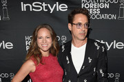 Actor Robert Downey Jr. (R) and Susan Downey attend HFPA & InStyle's 2014 TIFF celebration during the 2014 Toronto International Film Festival at Windsor Arms Hotel on September 6, 2014 in Toronto, Canada.