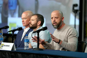 (L-R) Neal McDonough, David O'Leary and Sean Jablonski attend HISTORY's Project Blue Book SDCC Panel 2019 at Hilton San Diego Bayfront Hotel on July 20, 2019 in San Diego, California.