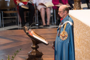 Prince Edward, Duke of Kent attends the Service of Commemoration and Dedication, marking the 200th anniversary of the Most Distinguished Order of St Michael and St George at St Paul's Cathedral on June 28, 2018 in London, England. HM Queen Elizabeth II was unable to attend due to illness. The Order of St Michael and St George is awarded to men and women who hold high office or who render extraordinary or important non-military service in a foreign country, and can also be conferred for important or loyal service in relation to foreign and Commonwealth affairs.