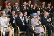 (L-R) Princess Maxima, Prince Willem Alexander, Queen Beatrix of the Netherlands, Saxony's Prime Minister Stanislaw Tillich attend the reception of the state's Prime Minister in the state chancellery on April 14, 2011 in Dresden, Germany. The Dutch royals are on a four-day visit to Germany that includes stops in Berlin, Dresden and Duesseldorf.