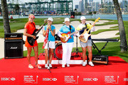 Lexi Thompson of the USA, Lydia Ko of New Zealand; Inbee Park of South Korea and ShanShan Feng of China during a photo call prior to the HSBC Women's Champions at the Sentosa Golf Club on March 1, 2016 in Singapore, Singapore.