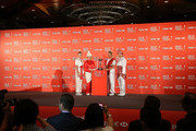 (L-R) Paula Creamer of the USA, Inbee Park of South Korea, Suzann Pettersen of Norway and Shanshan Feng of China pose during a photocall at the Fairmont Hotel prior to the start of the 2014 HSBC Women's Champions on February 25, 2014 in Singapore, Singapore.