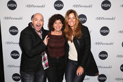 (L-R) David Evangelista, Jill Braff and Kelly Bensimon attend the celebration of HSN Digital Redesign at Marquee New York on January 16, 2013 in New York City.