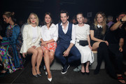 Anna Maria Muehe, Alice Dwyer, Sabin Tambrea, Susanne Wuest and Lilith Stangenberg attend the HUGO show during the Berlin Fashion Week Spring/Summer 2019 at Motorwerk on July 5, 2018 in Berlin, Germany.