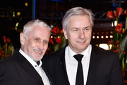 Klaus Wowereit (L) and his husband Joern Kubicki attend the 'Hail, Caesar!' premiere during the 66th Berlinale International Film Festival Berlin at Berlinale Palace on February 11, 2016 in Berlin, Germany.