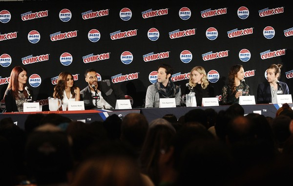 New York Comic-Con 2015 - Day 3 [red,event,news conference,convention,sky,businessperson,academic conference,sera gamble,john mcnamara,olivia t. dudley,stella maeve,hale appleman,summer bishil,arjun gupta,jason ralph,new york comic-con,panel]