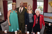 """(L-R) Actress Kim Fields, actor Todd Bridges, actresses Lisa Whelchel and Charlotte Rae attend Hallmark's Home and Family """"Facts Of Life Reunion"""" at Universal Studios Backlot on February 12, 2016 in Universal City, California."""