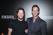 Actor Mark Wahlberg (L) and director Peter Berg attend the Hamilton Behind The Camera Awards presented by Los Angeles Confidential Magazine at Exchange LA on November 6, 2016 in Los Angeles, California.