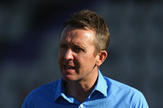 Ex cricketer and Sky commentator Dominic Cork during the NatWest T20 Blast match between Hampshire and Middlesex at the Ageas Bowl on June 4, 2015 in Southampton, England.