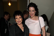 Liza Minnelli and Michelle Ryan are seen backstage at the opening night of Hampton Court Palace Festival 2012  at Hampton Court Palace on June 14, 2012 in London, England.