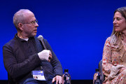 """Executive Producer Bob Balaban and Amy Nauiokas speak on stage during the Q&A for """"Can You Ever Forgive Me?"""" at Guild Hall during Hamptons International Film Festival 2018 - Day Four on October 7, 2018 in East Hampton, New York."""