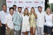 """Stuart Match Suna, Aaron Lubin, David Nugent, Aaron Lubin  Wass Stevens, Elizabeth Masucci Katrina Bowden, and Edward Burns  and Anne Chaisson attend """"Public Morals"""", a TNT Original Series, screening presented by the Hamptons International Film Festival and TNT  at Guild Hall on August 3, 2015 in East Hampton, New York."""