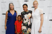 (L-R) Joan Hornig, Kasseem Tifrere, Mashona Tifrere and Kelly Rutherford attend Hamptons Magazine Celebration of The Children's Justice Campaign Of Joan & George Hornig on August 16, 2014 in Water Mill, New York.